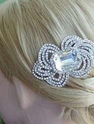 Bridal Hair Accessories Wedding Hair Comb Silver-tone Rhinestone Flower Hair Comb Wedding Headpiece Bridal Hair Comb