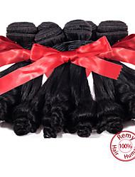 EVET 7A Unprocessed Aunty Funmi Hair Peruvian Virgin Hair Bouncy Curls 3 pcs Peruvian Funmi Bouncy Curls Extension