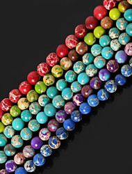 Beadia 1Str(Approx 85pcs) 4mm Round Natural Stone Beads Dyed Colors Sea Sediment Jasper Beads