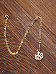 Fashion Women Cute Enamel Snow White Pendant Christmas Necklace