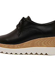 Women's Shoes  Wedge Heel Round Toe Heels Dress / Casual Black