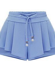 Women's Solid Blue/Pink Shorts Pants , Casual