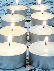 100PCS White Flameless Unscented Votive Candles Tealight Wedding Home Decor