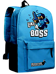 Minecraft Backpack Like A Boss Blue Day Pack New School Bag Nylon Rucksack Game Daypack
