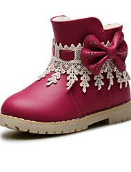 Baby Shoes Wedding / Outdoor / Dress / Casual Leatherette Boots / Fashion Sneakers Blue / Pink / Red