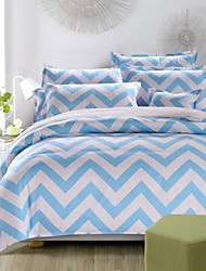 Stripe Polyester 4 Piece Duvet Cover Sets