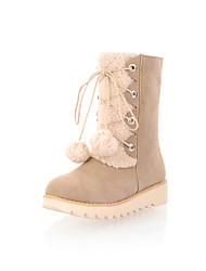 Women's Shoes Platform Snow Boots / Round Toe Boots Dress / Casual Black / Brown / Beige