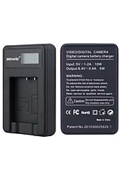 Camera Battery Charger with Screen for  Pentax BCG10-01 Black