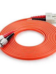 Shengwei® SC(UPC)-FC(UPC) Multimode Double Core Fiber Patch Cord 3M/5M/10M