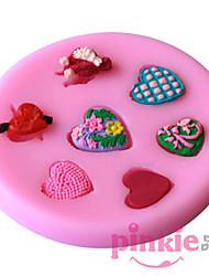 Heart-Shaped   Fondant Cake Cake Chocolate Silicone Molds,Decoration Tools Bakeware