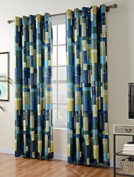 TWOPAGES® Diana Collection Patchwork Thick Knit 850GSM Velvet Hand Feel Curtain Panel Drape One Panel