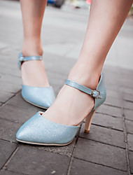 Women's Shoes Stiletto Heel Pointed Toe Sandals Wedding/Office & Career Blue/Silver/Gold