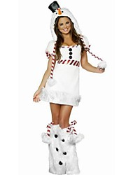 Women's Sexy Halloween Costumes Solid Color White Dresses , Party Mid Rise Long Sleeve