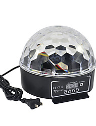Masonry 3W LED lamp beads crystal ball six 6-color voice control, self-propelled wide voltage