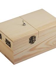 inútil juguete caja de la máquina completamente montada madera neje - marrón claro