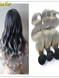 Ombre Hair Extensions 1B grey Hair Weave Brazilian Virgin Human Hair Body Wave 8A Grade Hair Products