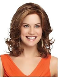 Charming Top Quality European Women Medium Brown lady  Hair Wigs