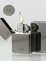 Personalized Gift Stylish Metal Silver Single Flame Oil Lighter