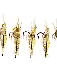"""20 pcs Isco Suave / Amostras moles / Iscas Isco Suave / Amostras moles / Lagostins-de-rio / Camarão Cores Sortidas 2.5 g Onça mm/1-5/8"""""""