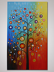 Hand-Painted Abstract Colorful Tree Oil Painting on Canvas Ready to Hang