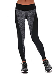 Women's Patchwork Black Active Pants , Casual