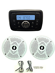 Waterproof Marine Radio Stereo ATV UTV Audio Receiver+6.5 Inch Waterproof Speakers