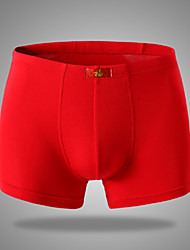 Men's Red High-quality Ice Silk Men's Boxers Shorts Underpants Underwear 3pcs/lot