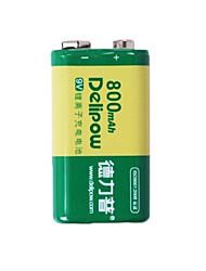 delipow 9В литиевая аккумуляторная батарея 9В лития емкости аккумулятора 800 мА 6F22