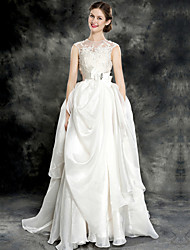 Wedding Dress - Ivory Court Train Jewel Lace/Organza