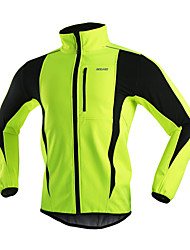 ARSUXEO® Cycling Jacket Men's Long Sleeve BikeBreathable / Thermal / Warm / Windproof / Anatomic Design / Back Pocket / Reflective