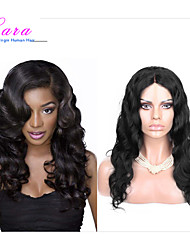 "8""-26"" Indian Virgin Hair Body Wave Glueless Lace Wig Lace Front Wig Color Natural Black Baby Hair for Black Women"