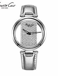 moda em couro relógio de quartzo impermeável de moda relógio de senhoras