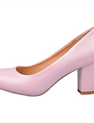 Women's Heels Summer Fall Comfort Flower Girl Shoes PU Office & Career Dress Casual Chunky Heel Walking