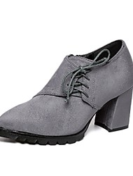 Women's Shoes Chunky Heel Heels/Fashion Boots/Closed Toe Boots Casual Black/Gray