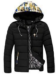 Men's Short Down Coat , Cotton Pure Long Sleeve
