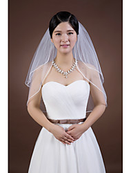 Wedding Veil Two-tier Elbow Veils Pencil Edge