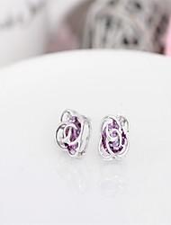 My Orders Fine Jewelry Mercurial Superfly Boucle d'oreille Femme Crystal Flower Earrings Silver Earings 925 Women