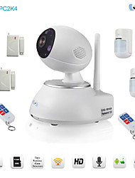 Snov Wireless IP IR PTZ Surveillance Camera with 6pcs Wireless Alarm Detector, Motion Detection, APP SV-VPC2K4