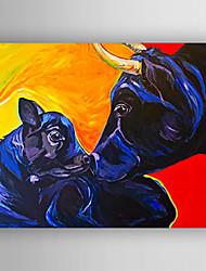 peinture à l'huile vache et petite toile vache peinte à la main tendue avec encadrées prêt à accrocher