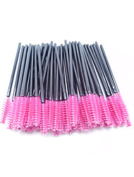 50Pcs/Set Disposable Eyelash Makeup Brush Mascara Wands Applicator (Color: Pink)