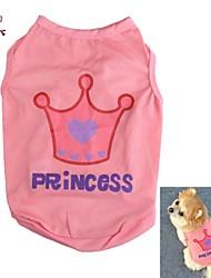 Gatos / Cães Camiseta Rosa Roupas para Cães Verão Tiaras e Coroas / Carta e Número Casamento / Fantasias
