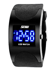 Men's Watch SKMEI Arc Design LED Watch Digital Electronic Watch Wrist Watch Cool Watch Unique Watch