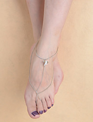 Women's Fashion Dance Simple Flower Pendant Chain Anklet
