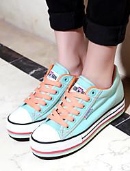 Women's Shoes Canvas Platform /Creepers/Comfort/Sneakers Casual Black/Dark Blue/Light Green/Light Purple/White/Gray