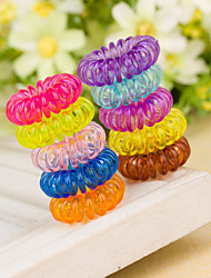 Set Of 50 Small Size Telephone Line Style Hair Tie
