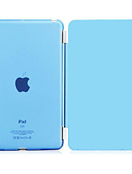 PU Leather with Translucent Plastic Hard Back Smart Stand Case for iPad 2/3/4