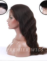 Premierwigs 8a 8 '' - 24 '' européenne vague naturelle dentelle pleine vierge de cheveux humains Perruques de base de soie devant