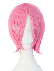 Anime Hot Style High Quality Temperature Silk Pink Wig