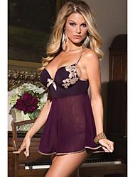 Damen Babydoll & slips / Besonders sexy Nachtwäsche Jacquard-Polyester / Elasthan Lila Damen