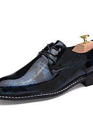 Men's Shoes Wedding Oxfords Blue / Red / Silver / Gold